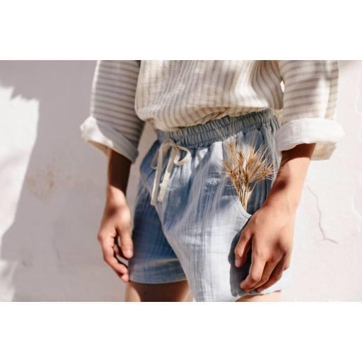 "Liilu - Shorts ""Tudor"", dusty blue"