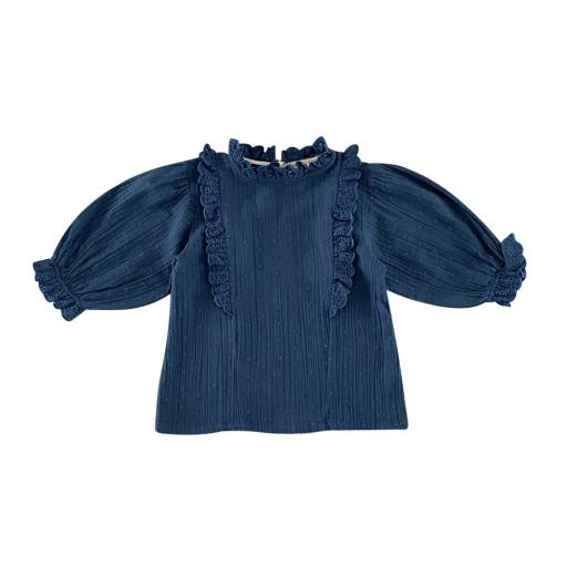 "Liilu - Bluse ""Stella"", ocean blue"