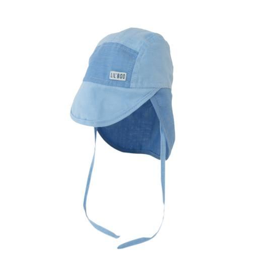 "Lil´Boo - Baby-Sonnenhut ""Soft Baby Sun Cap (UV)"", block blue"