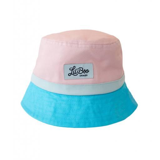 """Lil´Boo - Sonnenhut """"Bucket Hat Pink"""", pink/blue"""