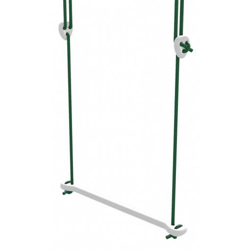 Lillagunga - Trapez Birke weiß lackiert - grüne Seile