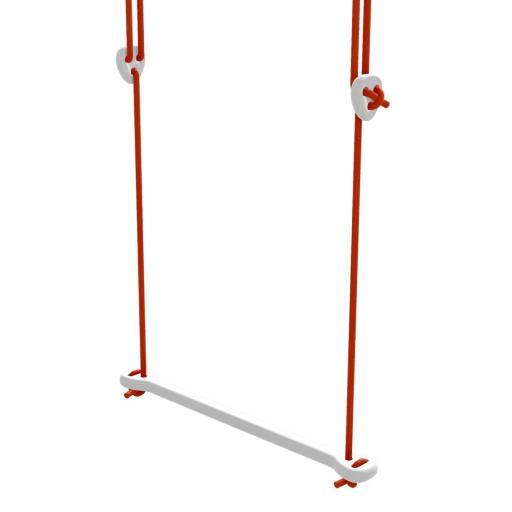Lillagunga - Trapez Birke weiß lackiert - rote Seile