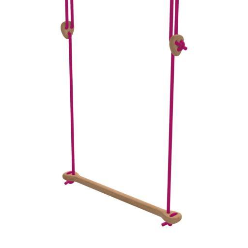 Lillagunga - Trapez Eiche pinke Seile