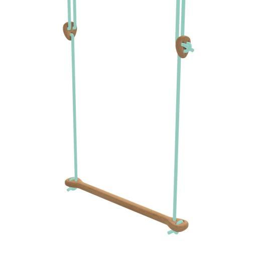 Lillagunga - Trapez Eiche mintfarbene Seile