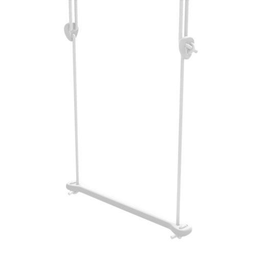 Lillagunga - Trapez Birke weiß lackiert - weiße Seile