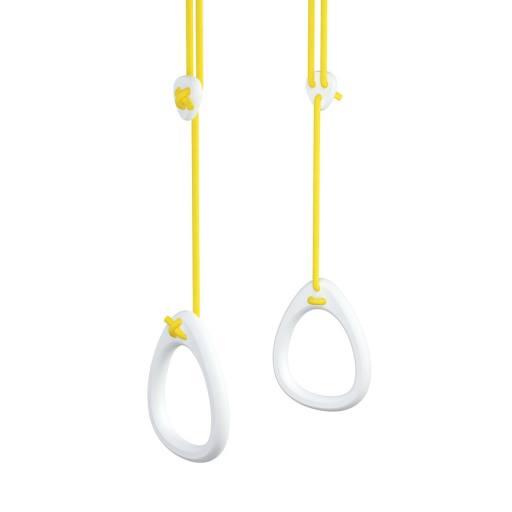 Ringe Birke weiß - gelbe Seile