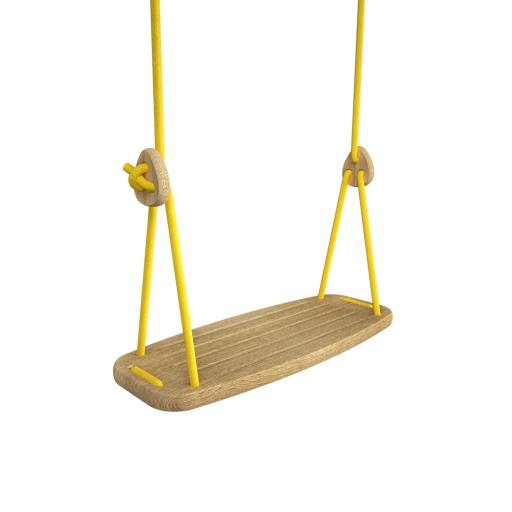 "Lillagunga - Holzschaukel ""Grand"" Eiche - gelbe Seile"