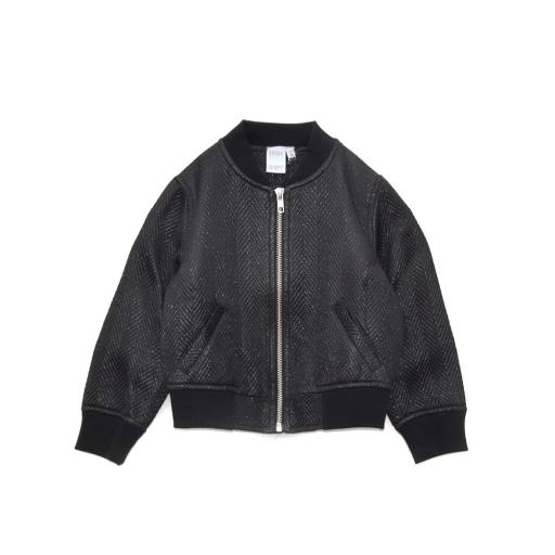 LITTLE MAN HAPPY - ALL BLACK Bomber Jacket