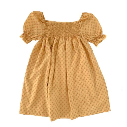 """Long live the Queen - Kleid """"Babydoll dress"""", yellow graphic"""