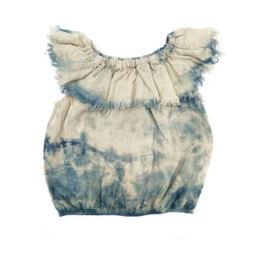 "Long live the Queen - Bluse ""Linen top"", cloud"