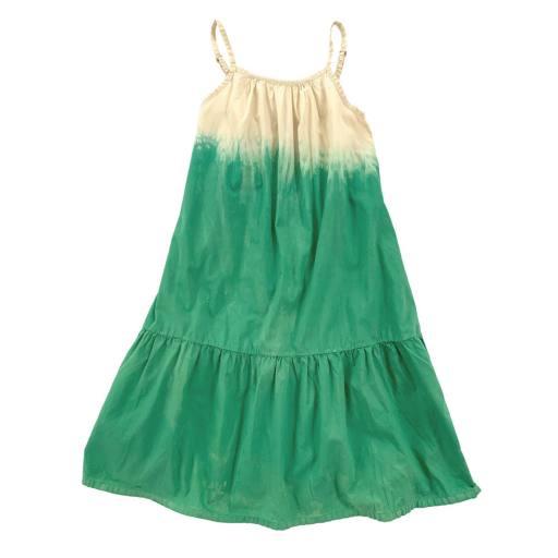 "Long live the Queen - Kleid ""Wide dress"", green dipdye"