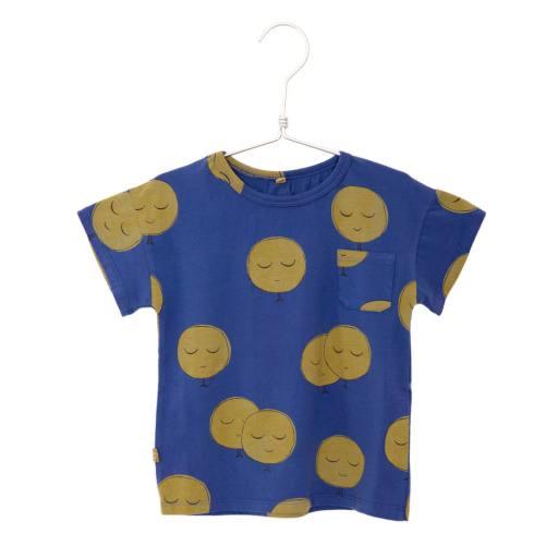 """Lötiekids - T-shirt """"Short sleeve moon"""", indigo blue"""