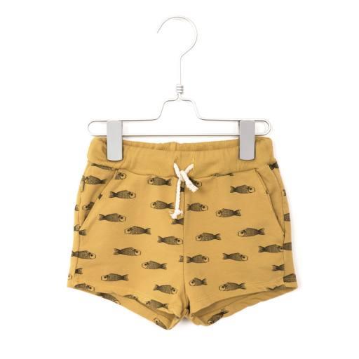 "Lötiekids - Shorts ""Fishes"", sun yellow"