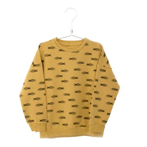 """Lötiekids - Sweatshirt """"Fishes"""", sun yellow"""