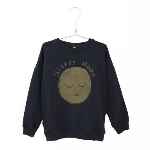 """Lötiekids - Sweatshirt """"Sleepy Moon"""", charcoal"""