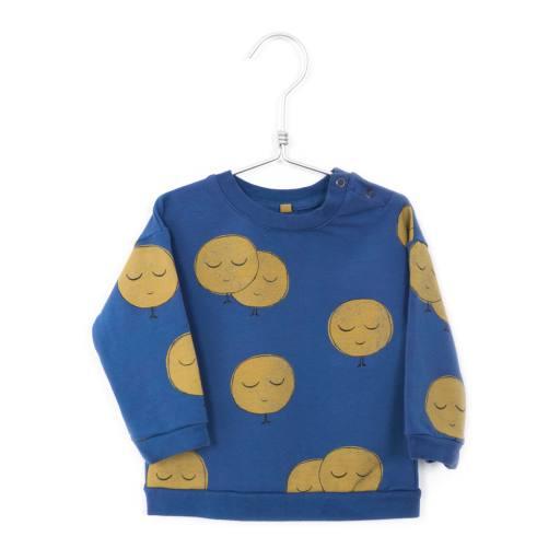 Lötiekids - Baby Sweatshirt ''Moons'', indigo blue