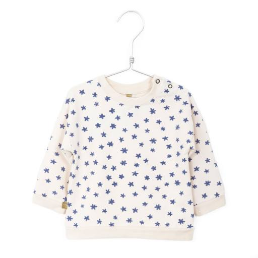 Lötiekids - Baby Sweatshirt ''Flowers'', off white