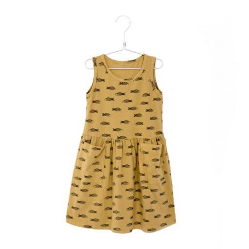 """Lötiekids - Kleid """"Sleeveless Pockets Fishes"""", sun yellow"""