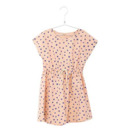 Lötiekids - Kleid ''Woven Cord Flowers'', peach