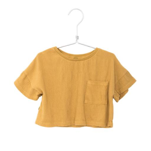 "Lötiekids - Top ""Bambula Crop Solid"", sun yellow"