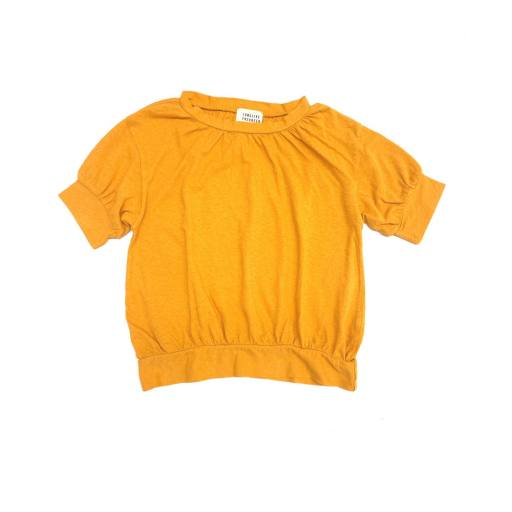 "Long live the Queen - T-Shirt ""Puff Tee"", golden yellow"