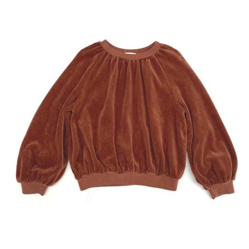 "Long live the Queen -Pullover ""Velvet Sweater"", rootbeer"