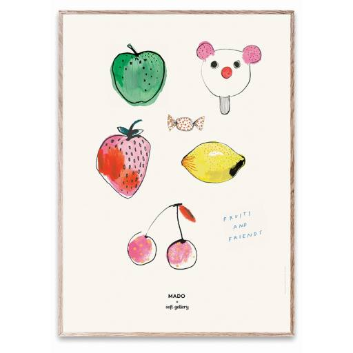 "Mado x Soft Gallery - Poster ""Fruit & Friends"", 50x70cm"""