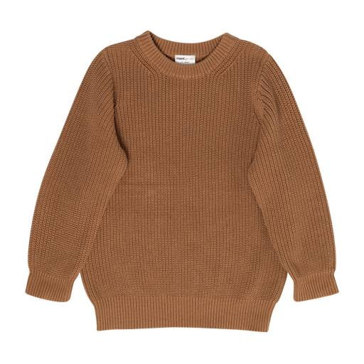 "Maed for Mini - Strickpullover ""Busy Bear"", brown"