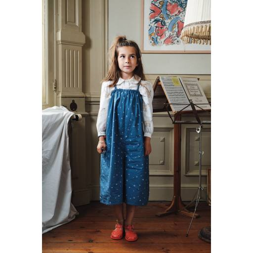 Maed for Mini - Jumpsuit ''Cherry Chipmunk'', navy/white