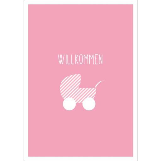 """Mari Mari - Postkarte """"Willkommen"""""""