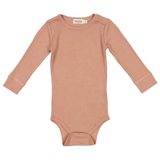 "MarMar - Langarmbody ""Plain Modal"", rose brown"