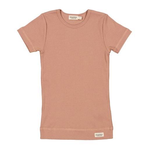 "MarMar - Kurzarmshirt ""Plain Tee"",  rose brown"