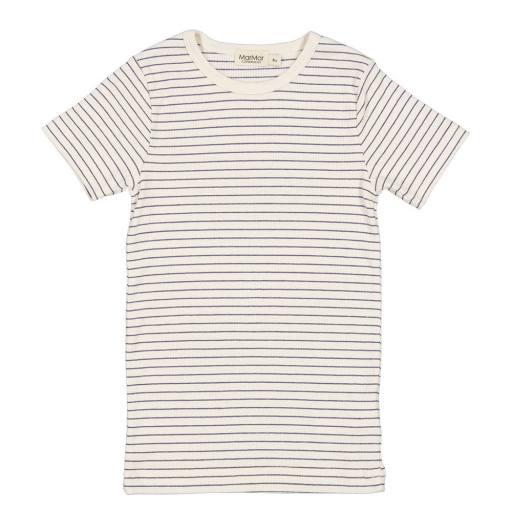 """MarMar - T-Shirt """"Tago Modal"""", blue stripe"""