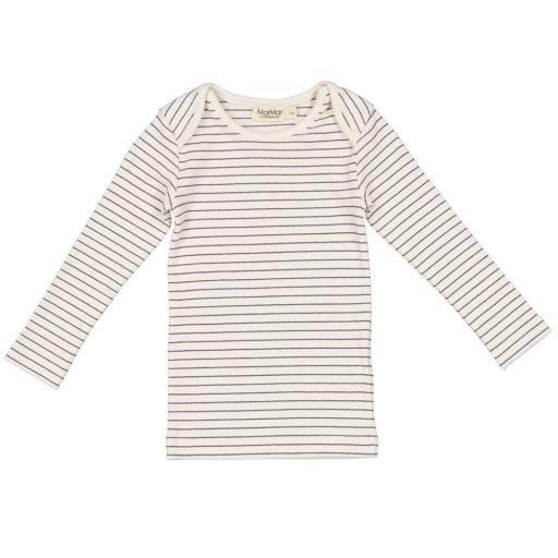 "MarMar - Baby-Langarmshirt ""Tor Modal"", blue stripe"