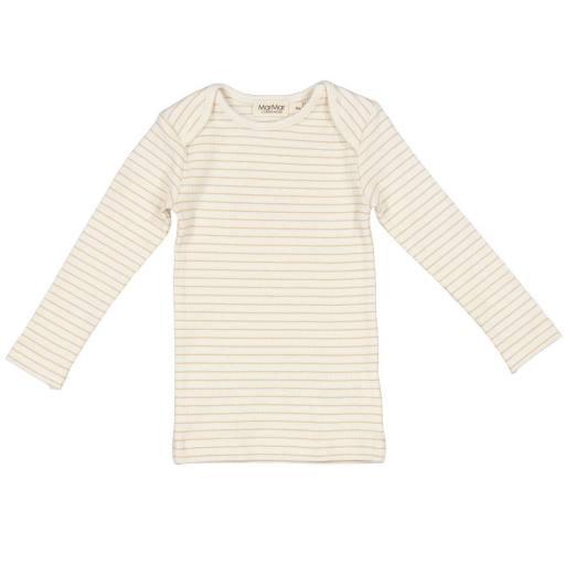 """MarMar - Baby-Langarmshirt """"Tor Modal"""", hay stripe"""