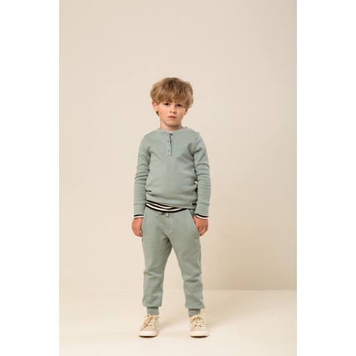MarMar - Henley Sweater ''Tavs'', sage
