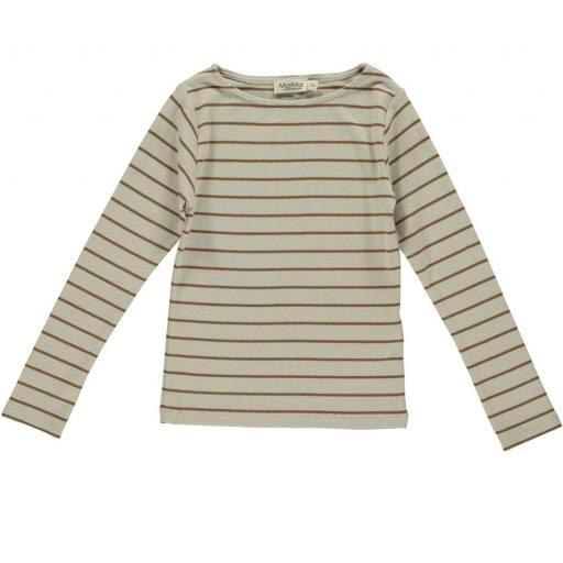 "MarMar - Langarmshirt ""Theodora"", gestreift leather stripe"