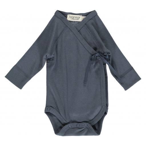 MarMar - Wickelbody Newborn ombre blue