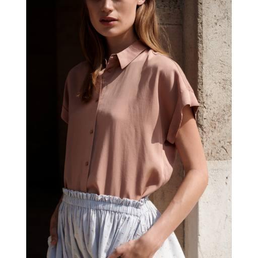 "MarMar - Woman Bluse ""Tava"", rose brown"