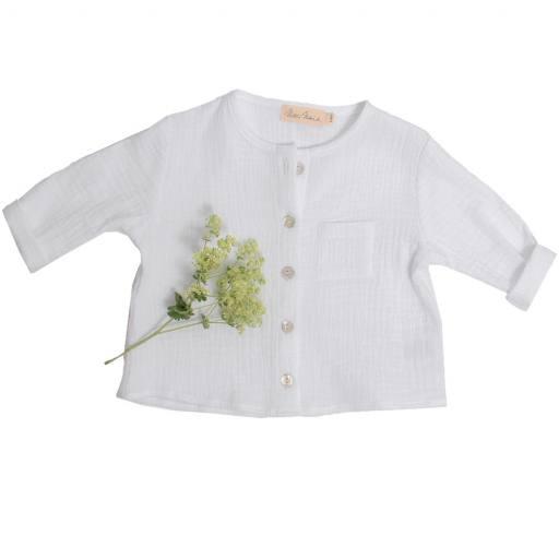 "Mercie Marie - Shirt ""Justus"", white"