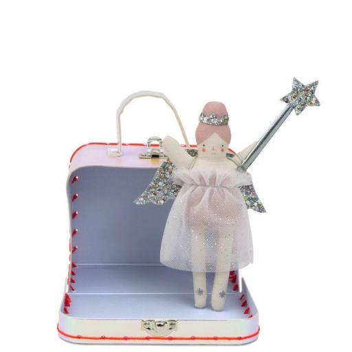 "Meri Meri- Regenbogen-Koffer ""Evie Mini Suitcase Doll"""