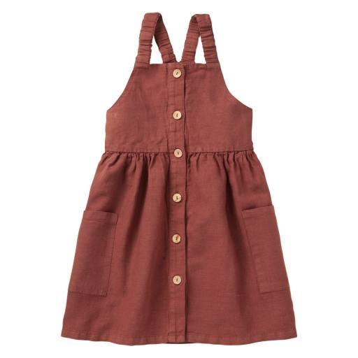 "Mingo - Kleid "" Linen Pinafore Dress"", sienna rose"