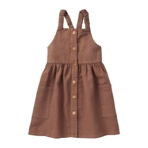 "Mingo -Kleid "" Linen Pinafore Dress"",warm earth"