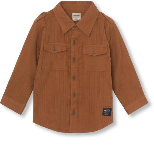 "Mini a Ture - Hemd ""Martin Shirt"", leather brown"