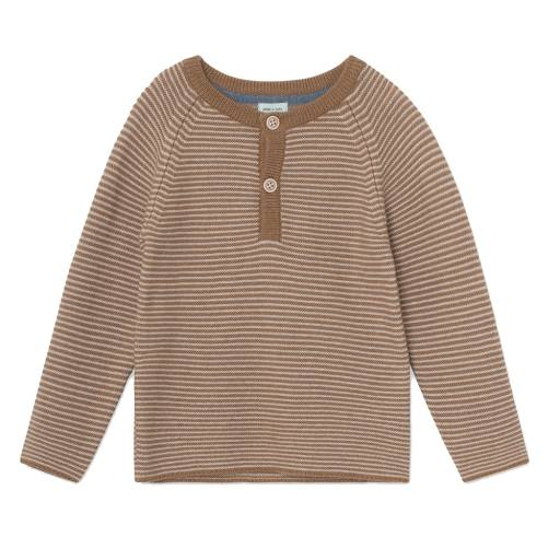 "Mini a Ture -Strickpullover ""Kaare Blouse"", otter brown"