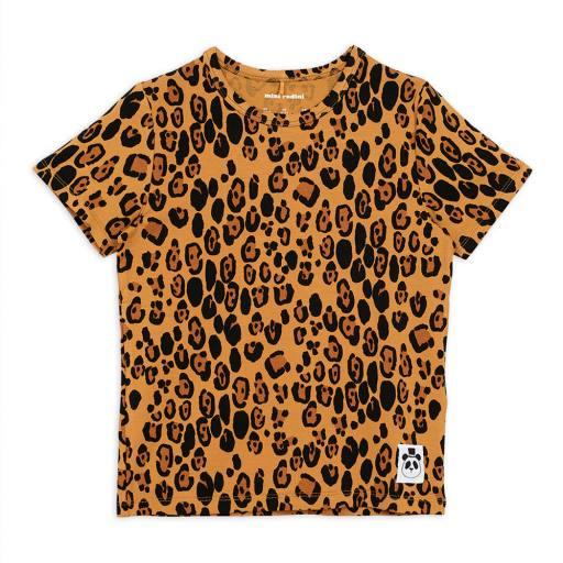 Mini Rodini - T-Shirt ''Basic Leopard'', beige