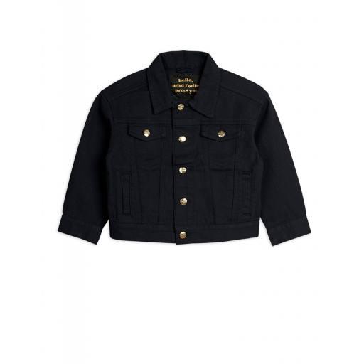 """Mini Rodini -Jacke """"Denim Twill Leopard Jacket"""", black"""