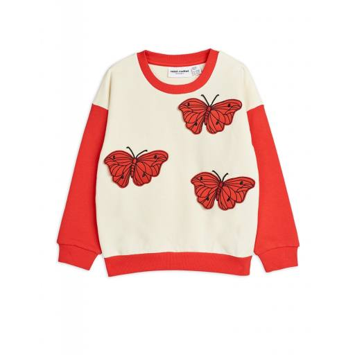 "Mini Rodini -Pullover ""Butterflies Sweatshirt"", red"