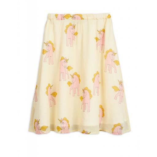 """Mini Rodini - Rock """"Unicorns Woven Long Skirt"""", yellow"""