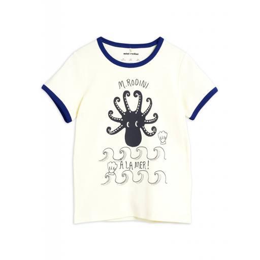 Mini Rodini - T-Shirt Octopus tee, offwhite